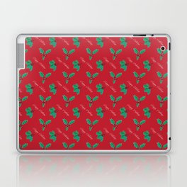 Holy Berry Happy Holidays Red Laptop & iPad Skin