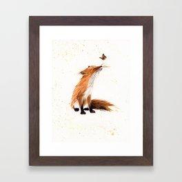 Monarch Fox - animal watercolor painting Framed Art Print