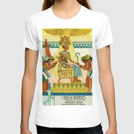 Vintage 1933 Belgian Egyptian Motif Isis Osiris Liebig's Beef Extract Lithograph Advertisement Poste T-shirt