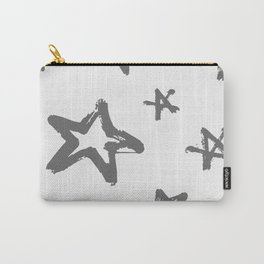 Monochome stars pattern. Grunge style. Carry-All Pouch