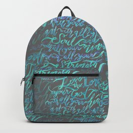 Love the Lord - Mark 12:30 Backpack