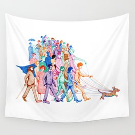 Everyone and Their Dog Pun Wall Tapestry