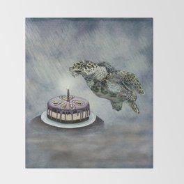 Turtle Birthday Throw Blanket