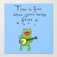 kermit Canvas Prints featuring Muppets Kermit by BlackBlizzard