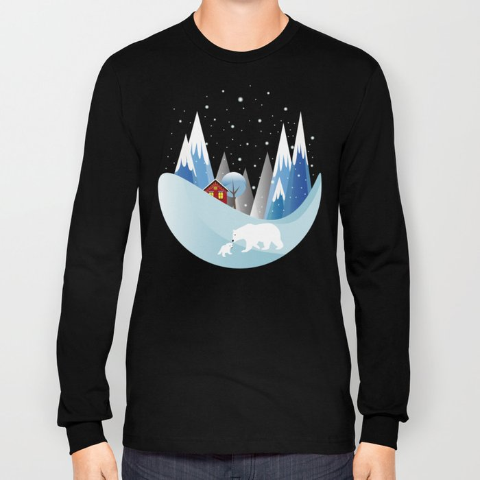 Snowing Bubble Long Sleeve T-shirt