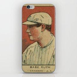 Babe Ruth Yankees iPhone Skin