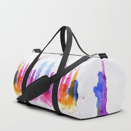 Color New York Skyline 03 Duffle Bag