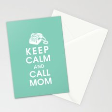 Keep Calm and Call Mom Stationery Cards