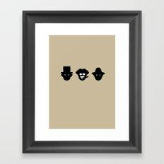 chico, harpo & groucho Framed Art Print