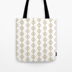Aztec Triangles - Black and white modern pattern in tribal native style Tote Bag