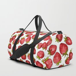 Watercolor Strawberries Duffle Bag