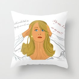 Death becomes her Throw Pillow