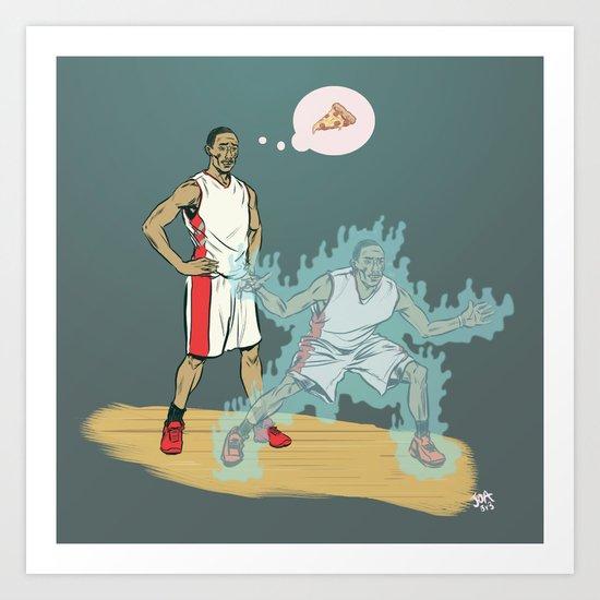 Ghost Defender Art Print