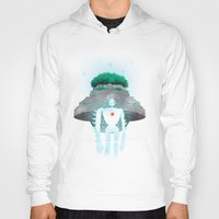 castle in the sky Hoodies featuring Night Castle in the Sky by Vincent Trinidad
