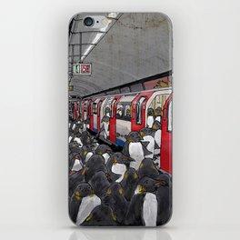 Penguins on the London Underground iPhone Skin