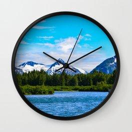 Portage Valley Summer - I Wall Clock