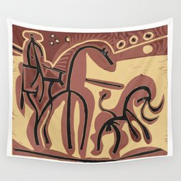 Picador et Taureau (Picador and Bull), 1959, Pablo Picasso, Artwork For Shirts, Posters, Bags, Tapes Wall Tapestry