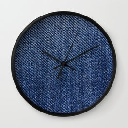 Jeans pattern Wall Clock