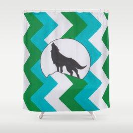 ZigZag Wolf Shower Curtain