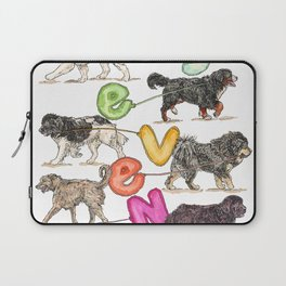 Dogs with Balloons Laptop Sleeve