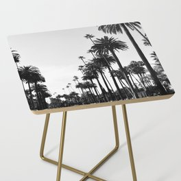 Los Angeles Black and White Side Table