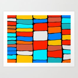 Cargo Ship Containers 8 Art Print