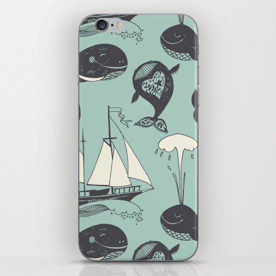Whales 2 iPhone Skin