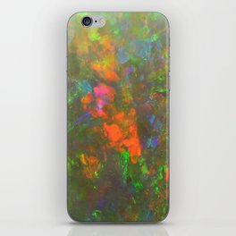 Gemstone opal iridescent holographic faux druse crystal quartz agate gem geode mineral stone photo iPhone Skin