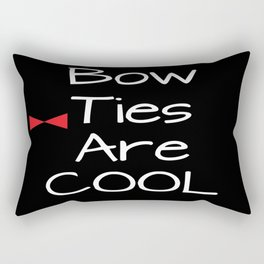 Doctor Who Bow Ties Are Cool red Rectangular Pillow