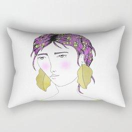 Burdock Girl Rectangular Pillow