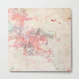 Mesa map Arizona painting Metal Print