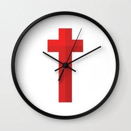 Christian Cross Wall Clock