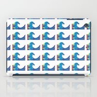 hokusai iPad Cases featuring Hokusai Rainbow_Bs by FACTORIE