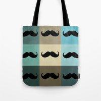 moustache Tote Bags featuring Moustache by Zetanueta
