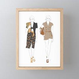 Fashion Show Runway Girls Framed Mini Art Print