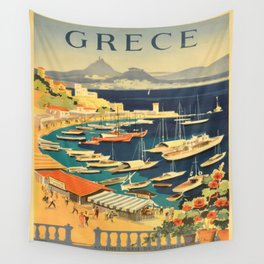 Vintage poster - Grece Wall Tapestry