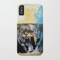 tigers iPhone & iPod Cases featuring YAWNING TIGERS by Brandon Neher