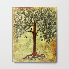 Two Birds and Their Favorite Tree Metal Print