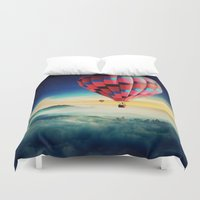 hot air balloons Duvet Covers featuring Hot Air Balloons by EclipseLio