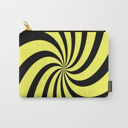 Spiral (Black & Yellow Pattern) Carry-All Pouch