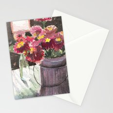 zinnias at sunset Stationery Cards