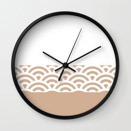 Rainbow Trim Light Brown Cinnamon Wall Clock