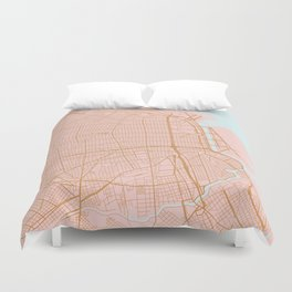 Buenos Aires map, Argentina Duvet Cover