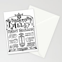 Knockturn Alley Night Bazaar Stationery Cards
