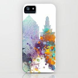 Watercolor Oakland skyline cityscape iPhone Case