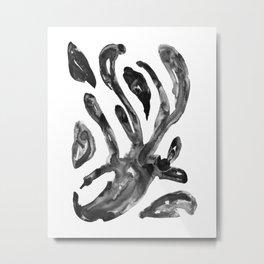 Flexible arms cells nanquim black and white Metal Print