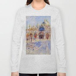 "Auguste Renoir ""The Piazza San Marco, Venice"" Long Sleeve T-shirt"