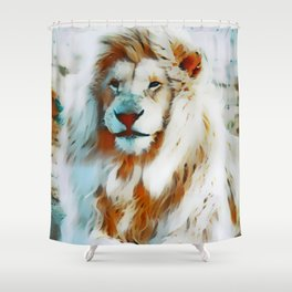 Pastel Albino Lion Shower Curtain