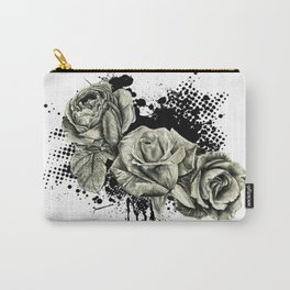 Roses Splash Carry-All Pouch