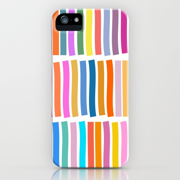 Bright Whimsical Rainbow Stripes iPhone Case